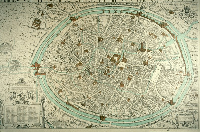 Old Bruges City Map Heres 2 Now