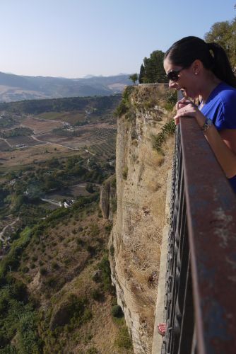 Ronda Al Looks Down the Cliff
