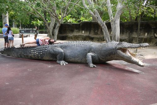 Queensland, Aus... Giant Alligator Dinosaur