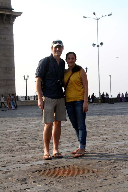 at the Gateway to India - for the past two hundred years, this monument has served as the entry point and welcoming signal to countless of visitors to India