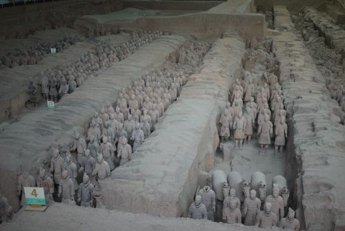 field of terracotta warriors