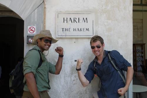 Pat and Arjun enjoying the sights in Istanbul, Turkey