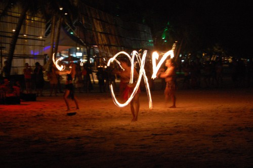 boracay beach by night